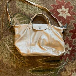 Authentic Longchamp Cuir Le Pliage Bag ~EUC